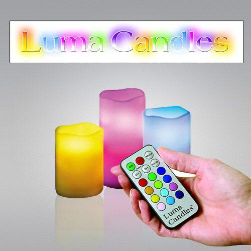 شمع های ال ای دی لوما کندل Luma Candles کنترل دار